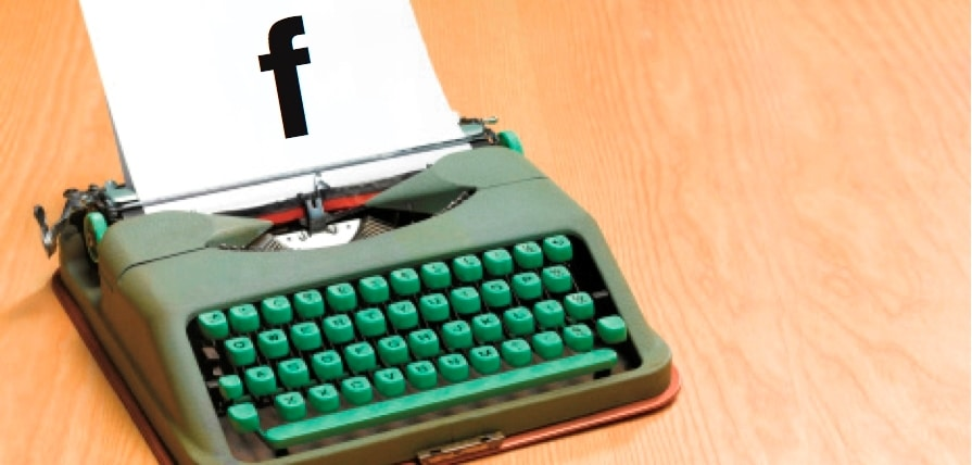 facebook writing