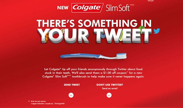 Colgate twitter