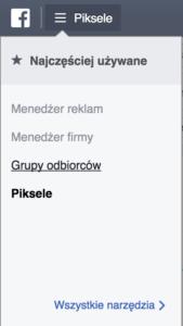 Grupy odbiorców Facebooka