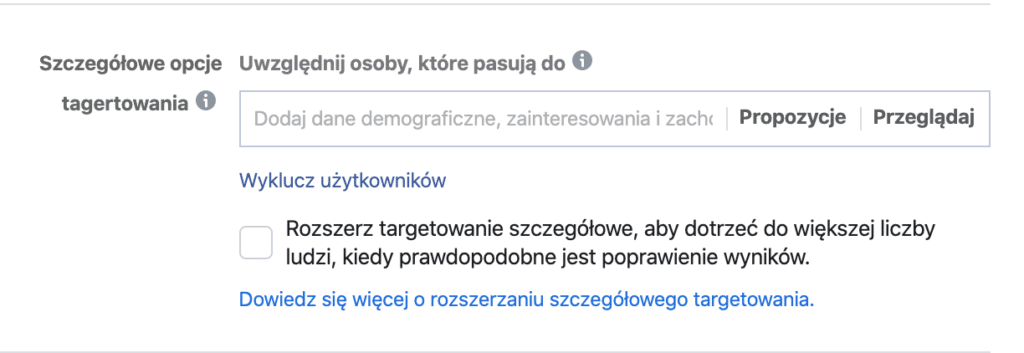 targetowanie reklam facebook