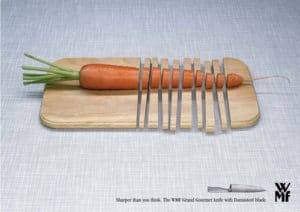 reklama noża do krojenia