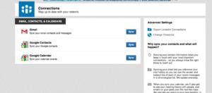 eksportowanie kontaktów linkedin