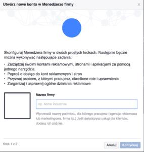 nazwa firmy facebook