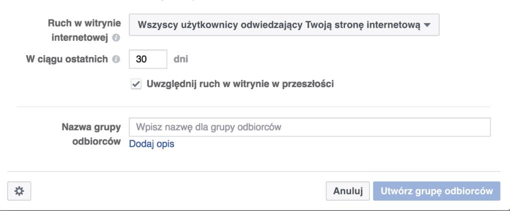 tworzenie grupy odbiorców facebook