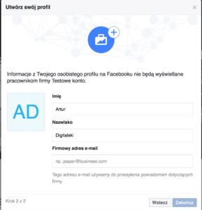 zakładanie konta facebook