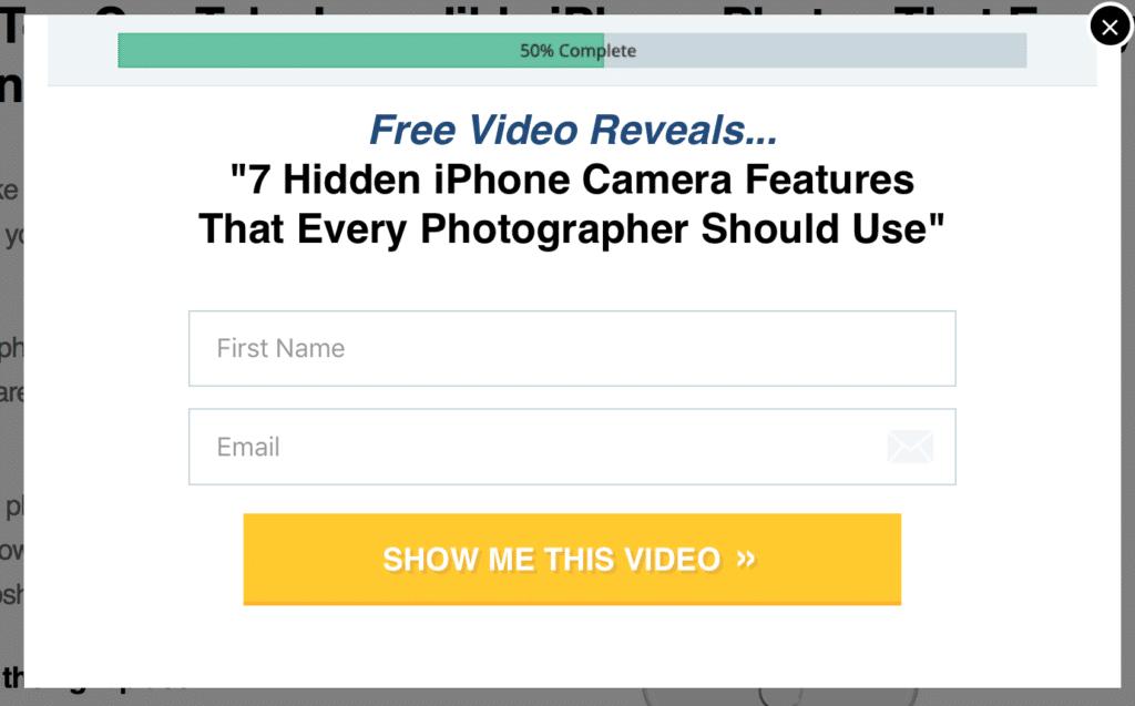 iphone camera newsletter