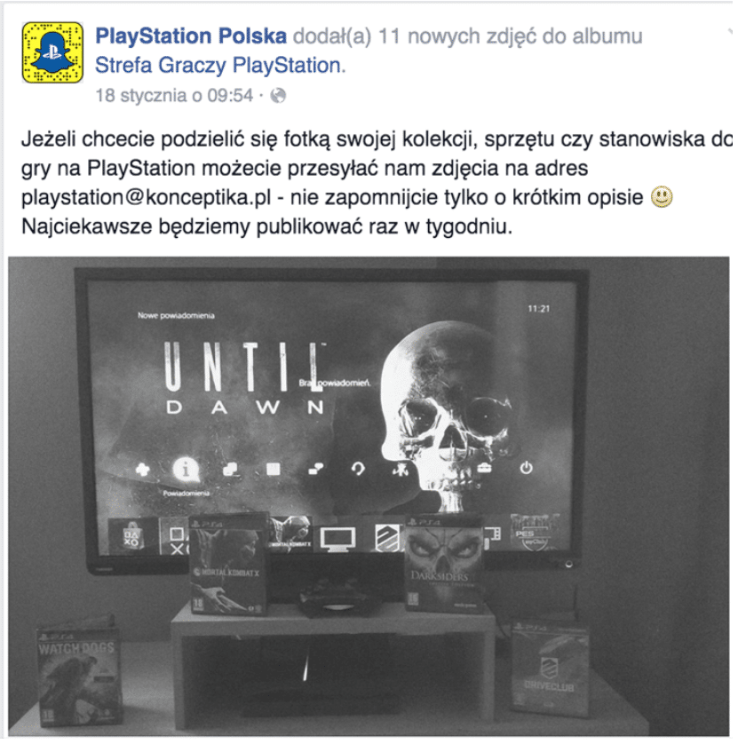 Treści od fanów – PlayStation