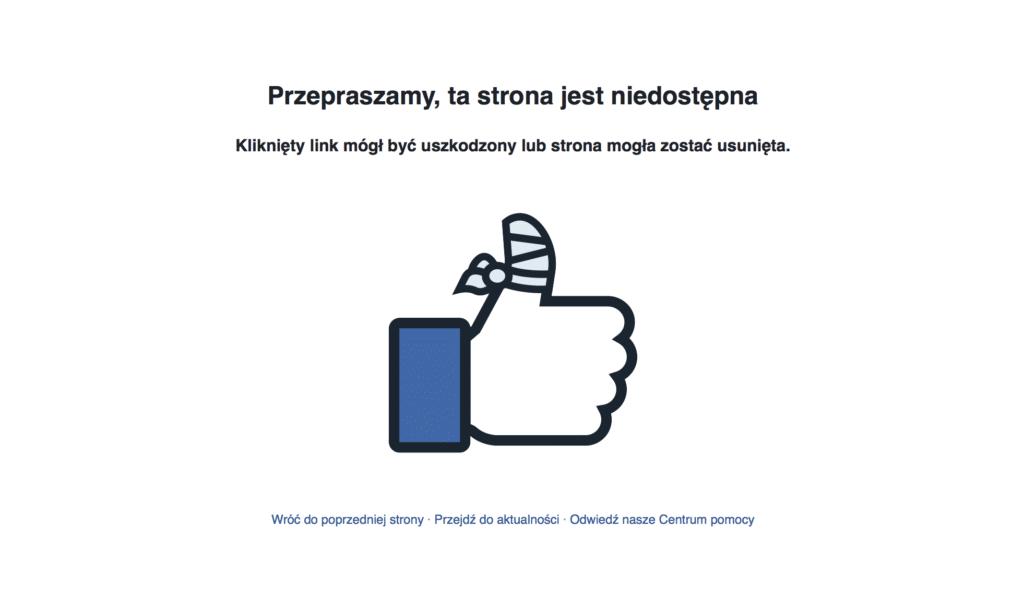 facebook-strona-niedostepna