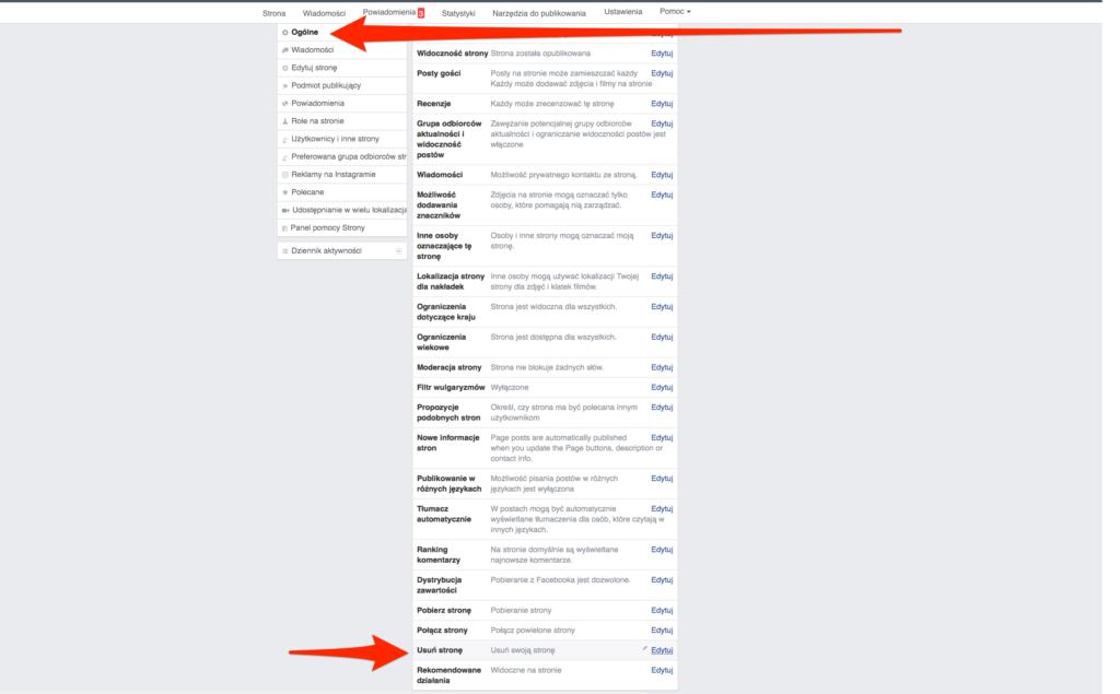 usuwanie-strony-facebook