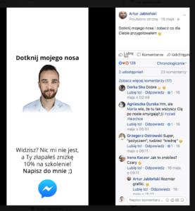 nietypowy post facebook