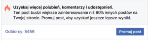 promuj post facebook
