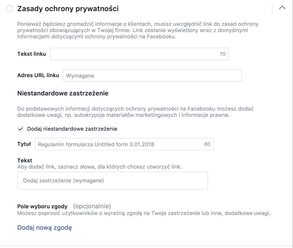 facebook ochrona prywatności