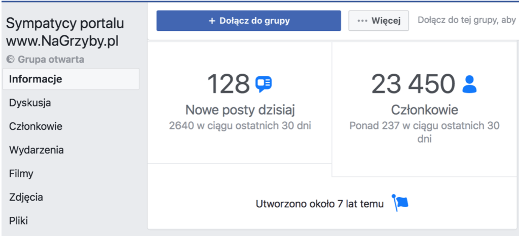 grzybiarze na facebooku