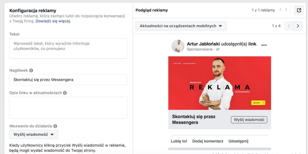 reklama na messenger kliknij