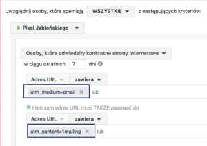 remarketing na facebooku a linki UTM