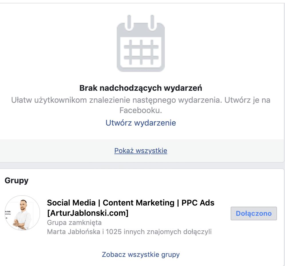 grupy na facebooku na fanpage
