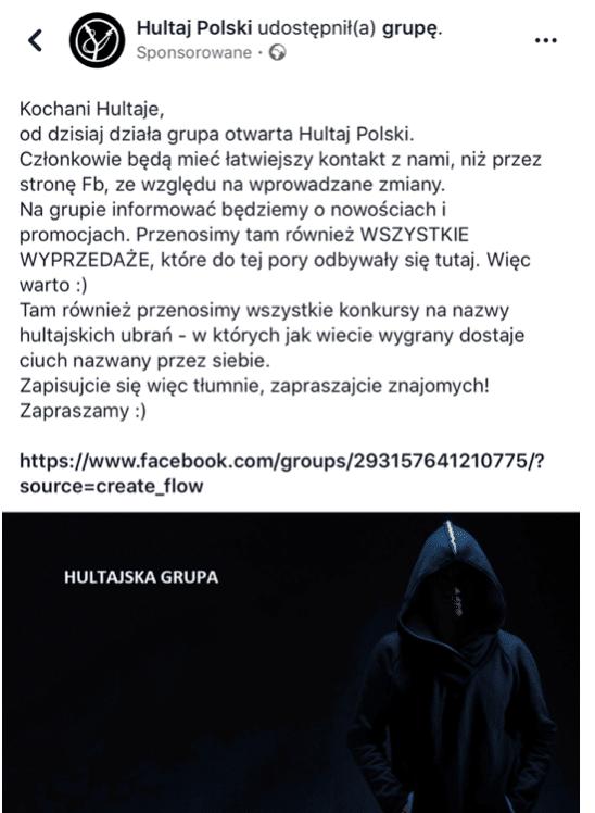 grupa hultaja polskiego na facebooku