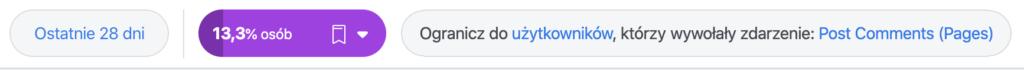 filtry facebook analytics