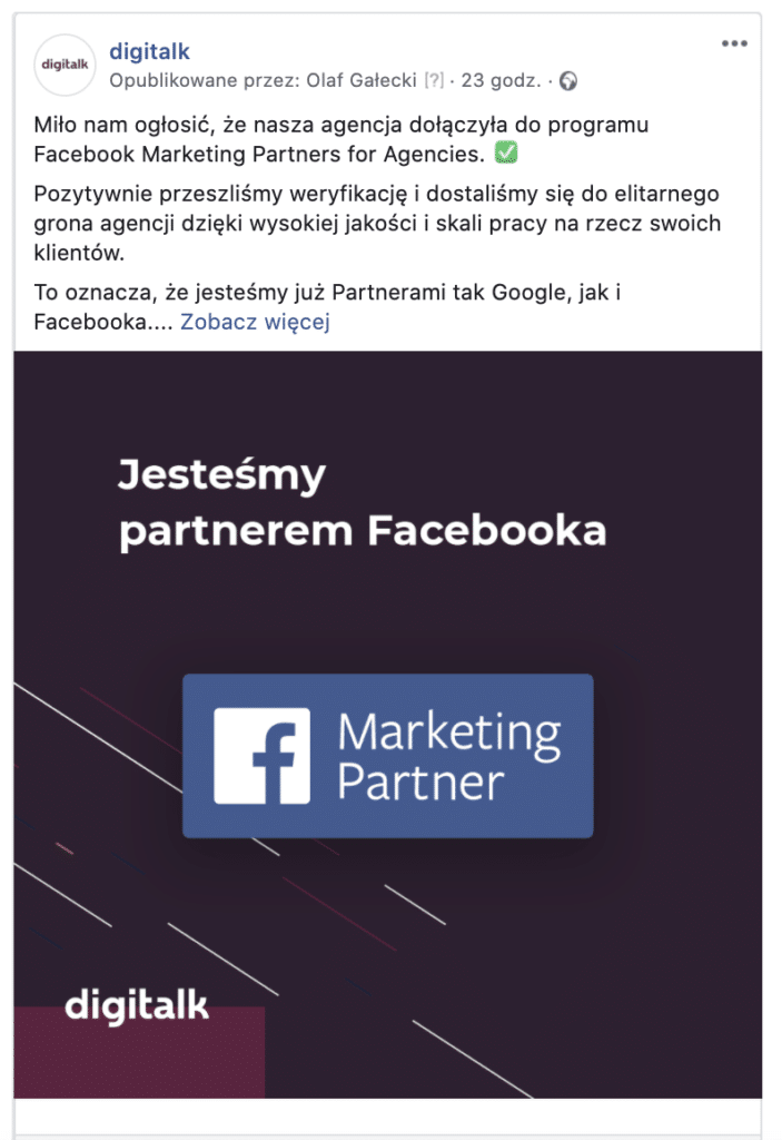 digitalk partner facebooka