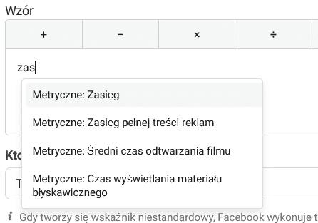 Niestandardowe wskazniki w raportach Menedzera Reklam Facebooka. Jak je stworzyc i do czego ich uzyc 5